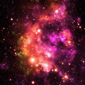 Red and Pink Space Stars