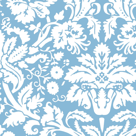 Blue damask pattern
