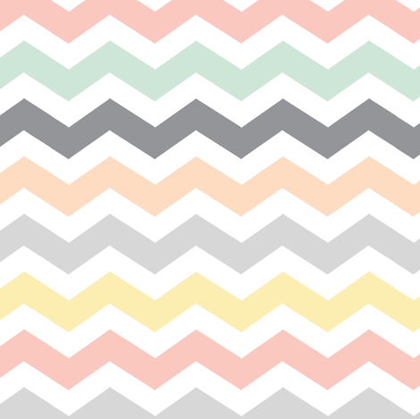 Pastel Chevron Mint Grey Peach Yellow Amp Coral Pink