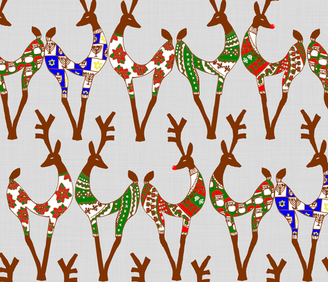 SweaterDeer fabric by kitkatdesigns on Spoonflower - custom fabric