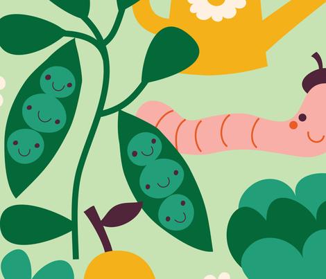 in the garden fabric by bora on Spoonflower - custom fabric