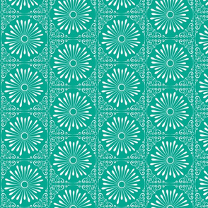 Lacy Bloom Deep Teal