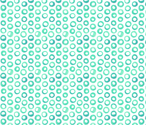 Mint Dots fabric by katebutler on Spoonflower - custom fabric