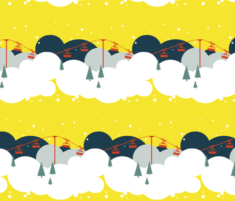 Cloud skiing fabric by moonstruck on Spoonflower - custom fabric