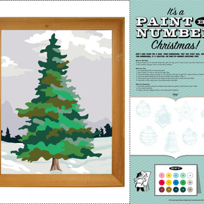 Paint-by-Number Christmas Tree