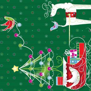 Reindeer Games: Tree & Sleigh - © Lucinda Wei