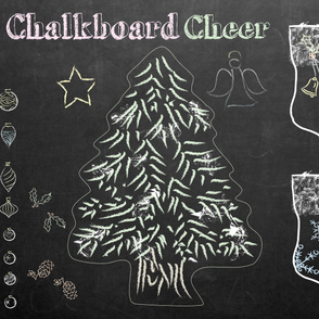 Cut 'n' Sew Chalkboard Cheer - Click for wider fabric layout