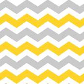 Gray and Yellow Chevron zig zags