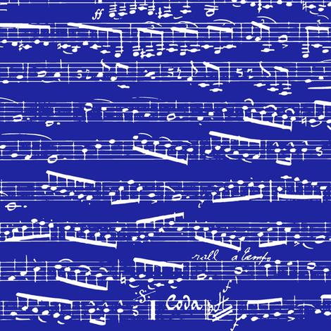 Dark Navy Blue Music notes