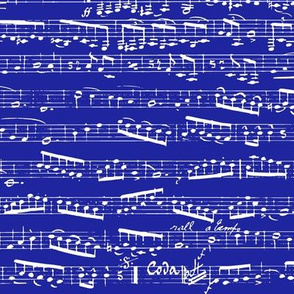 Dark Navy Blue Music notes