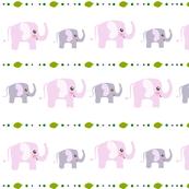 Pink elephant pattern