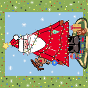 Santa Tree Panel