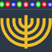 Golden Vine Menorah Hanging