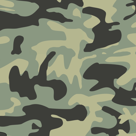 Green Camo Pattern fabric by inspirationz on Spoonflower - custom fabric