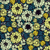 Flower liberty Blue and Yellow