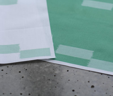 Ikat Arrows - Emerald on White