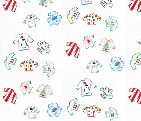Ugly Sweaters fabric by mamamel on Spoonflower - custom fabric
