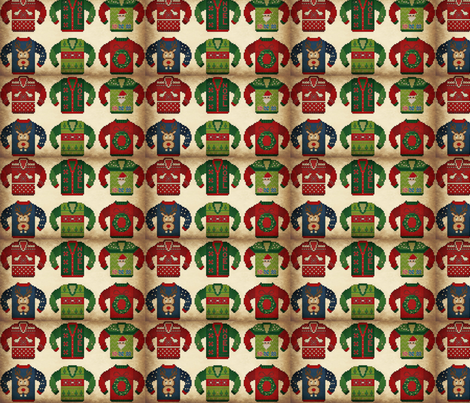 Ugly Holiday Sweaters fabric by sydneywaves on Spoonflower - custom fabric