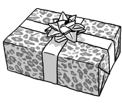 Grey Leopard Print pattern