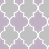 Lavender and Gray Flourish