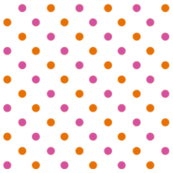 Fun Flowers pink orange Polka Dots