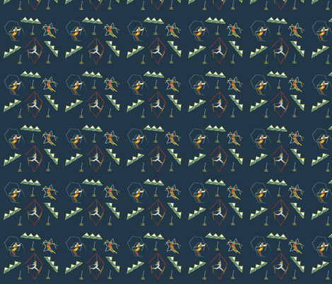Retro_Skiing fabric by ashley_anderson on Spoonflower - custom fabric
