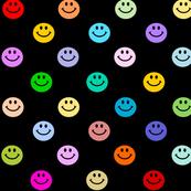 Rainbow Smiley Polka dot pattern