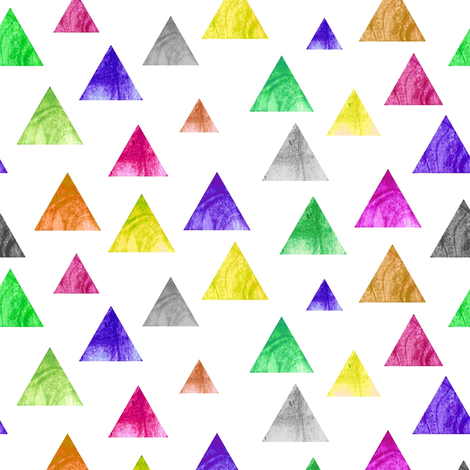 Colorful triangles on white