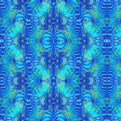 Blue African Design