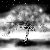 LUMINESCENT TREE BW BRANCHES PILLOW PANEL