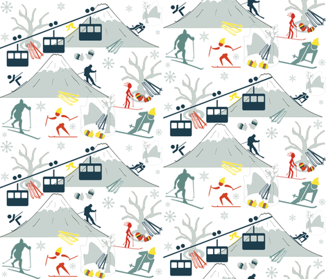 SKI LIFT fabric by bluevelvet on Spoonflower - custom fabric