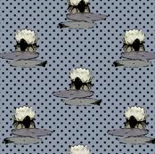 Nenuphar, Black Polka Dots