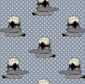 Nenuphar, White Polka Dots