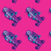 Splattery Purple Toy Robot
