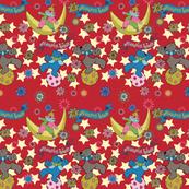 Bears & stars red