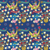 Bears & stars dark blue