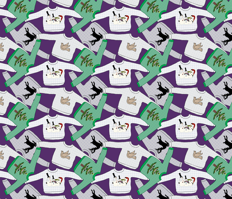 Ugly sweater fabric by linsart on Spoonflower - custom fabric