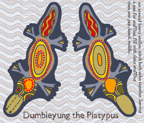 Cut'n'sew Dumbleyung the Platypus