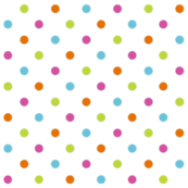Fun Flowers multi-coloured Polka Dots