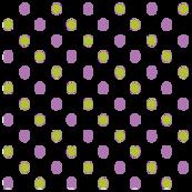 Purple green Polka Dots