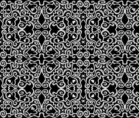 Ditsy Mittens, black/white