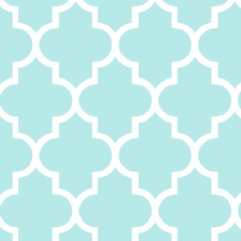 Moroccan Mint Quatrefoil pattern