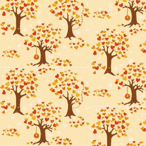 Fall Love fabric by laurawilson on Spoonflower - custom fabric