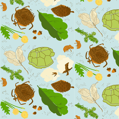 Nature Walk Nature Collection fabric by laurawilson on Spoonflower - custom fabric