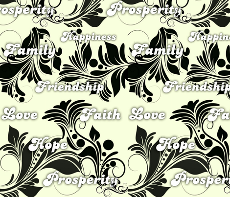 Encouraging Words fabric by charldia on Spoonflower - custom fabric