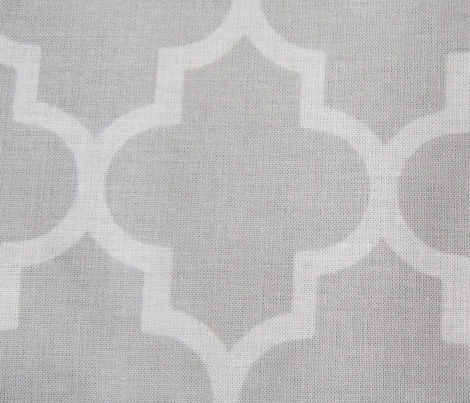 Stylish Grey Quatrefoil