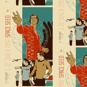 star trek retro movie poster