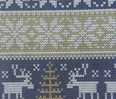 Christmas knit in navy