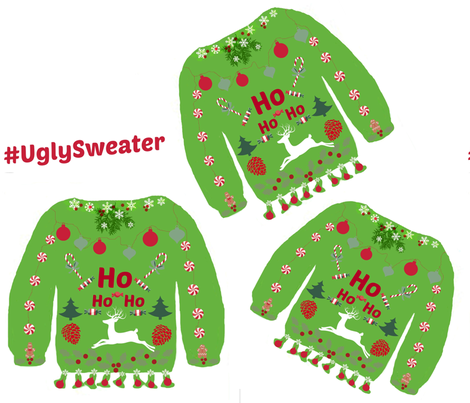 Hashtag UglySweater fabric by bettieblue_designs on Spoonflower - custom fabric