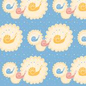 deco snails sky blue